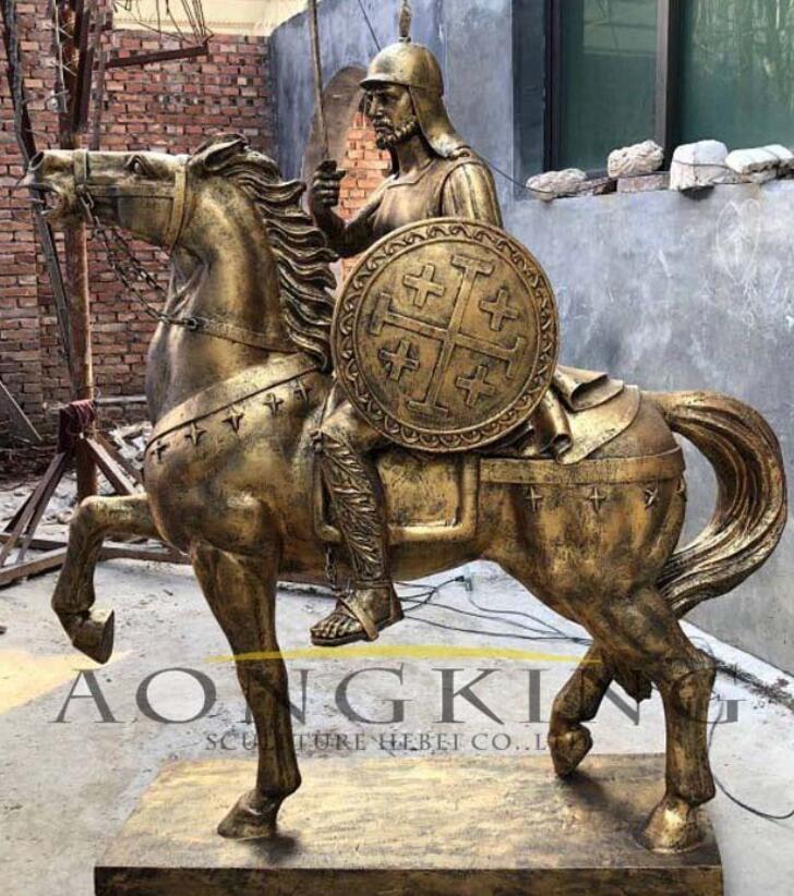 Fiberglass sculpture of knight