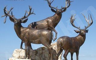bronze deer statues