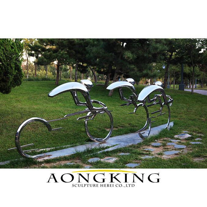 ride on a bicycle sculpture