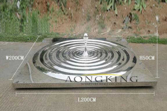 public stainless steel water drop sculpture