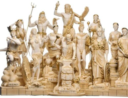 Marble Sculpture Appreciation of Olympus Gods