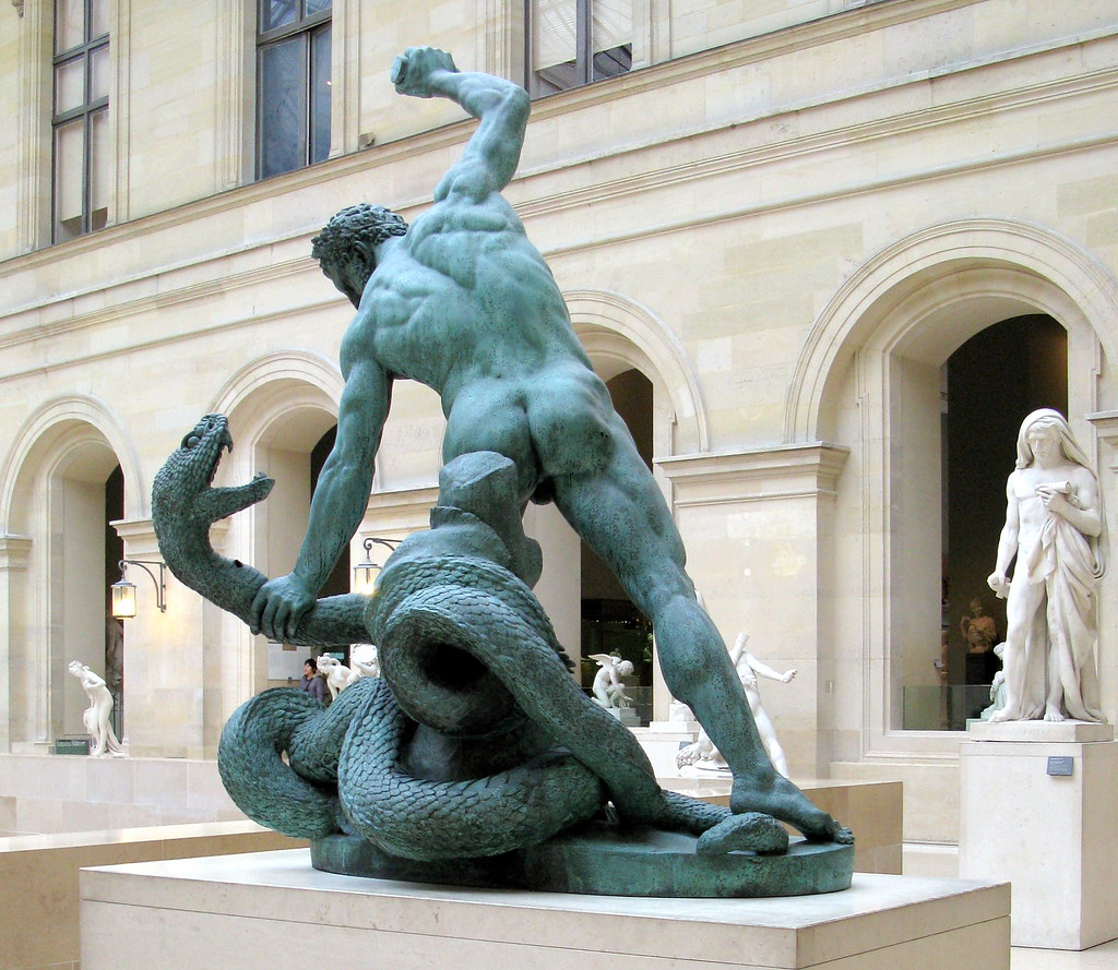 2.Hercules fighting Achelous transformed into a snake 2