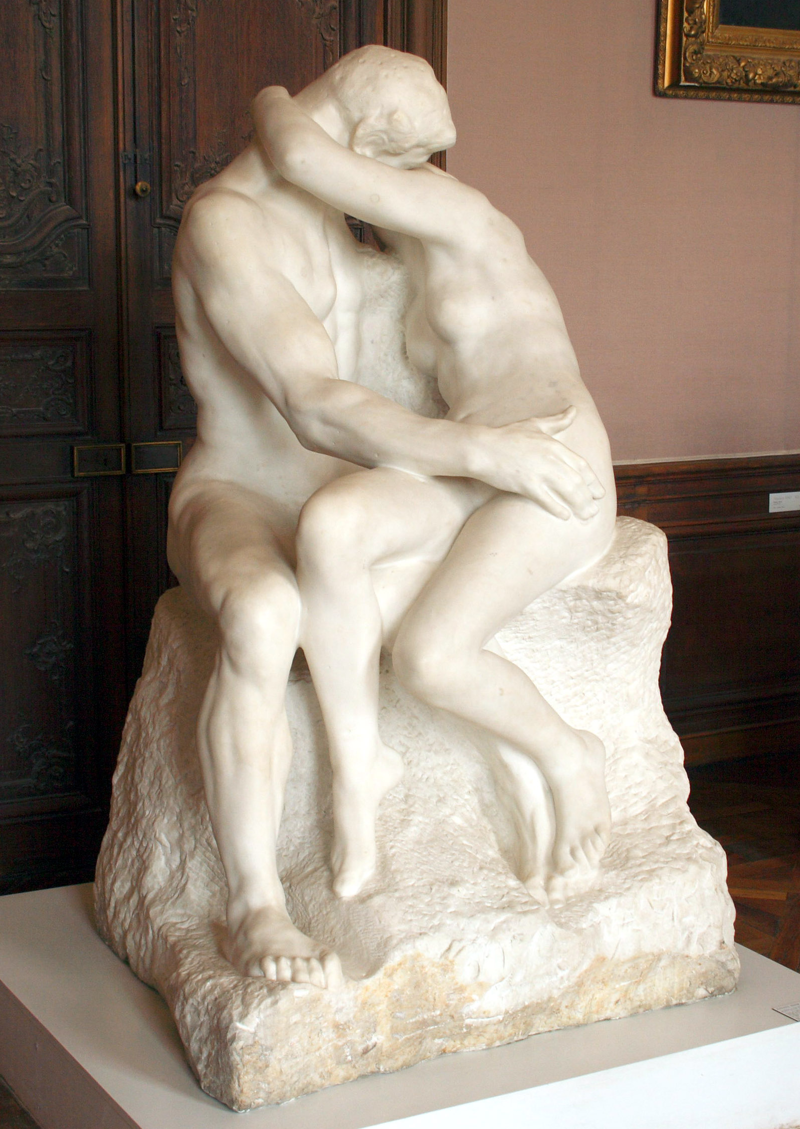 The Kiss – Sculpture by Francois Auguste Rodin