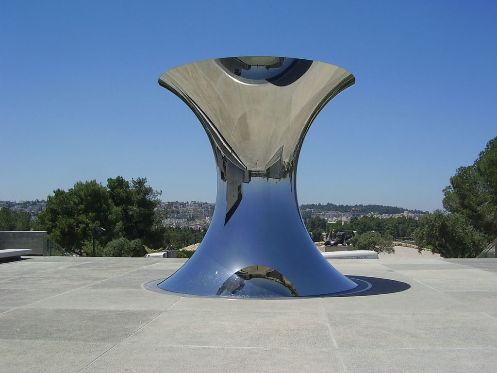 Turning the world upside down by Anish Kapoor in Israel Museum
