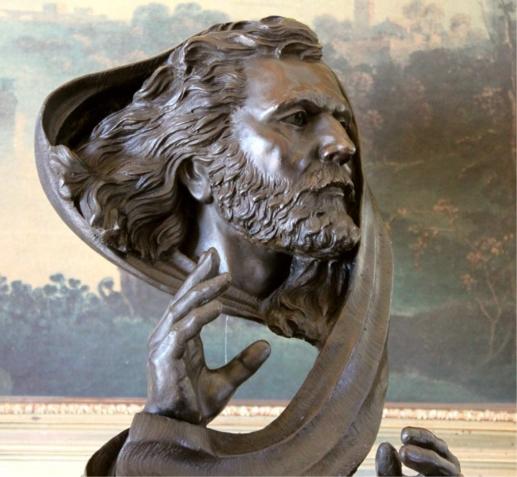 moses bust bronze